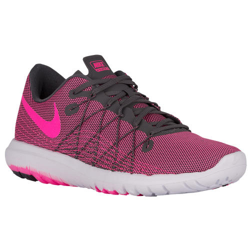 Nike Toddler's Flex Fury (TDV) Black/Pink Volt/White (2c)