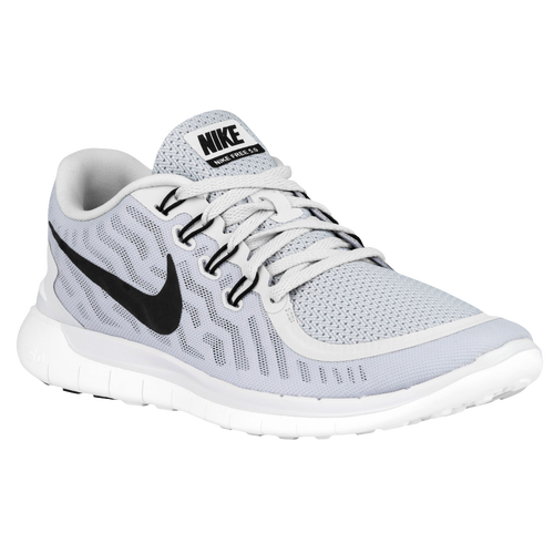 white and grey nike free