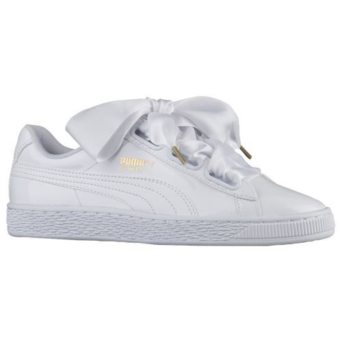 Puma Basket Heart White