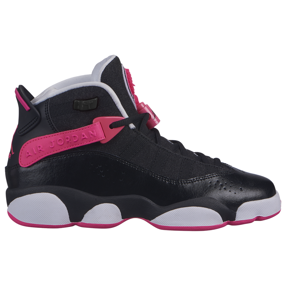 Jordan 6 Rings - Girls Grade School / Black/Hyper Pink/White