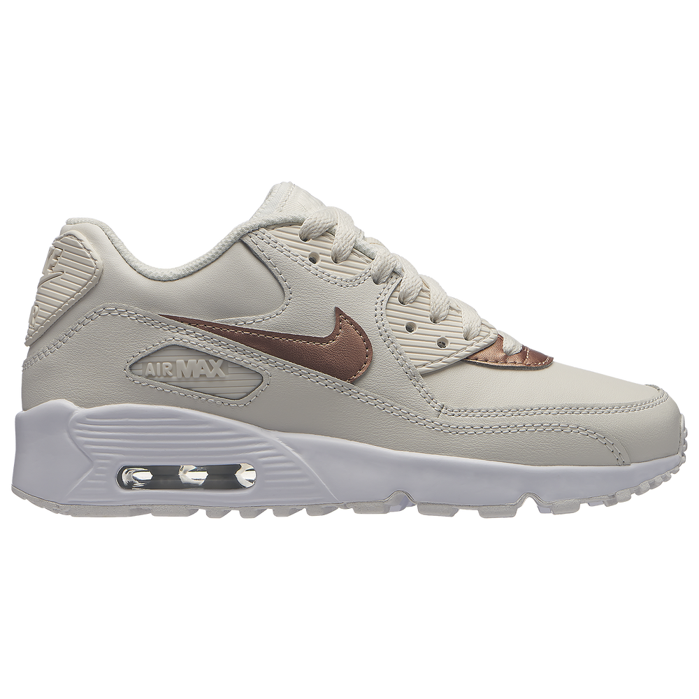 Nike Air Max 90 - Girls Grade School / Phantom/Met Red Bronze/White