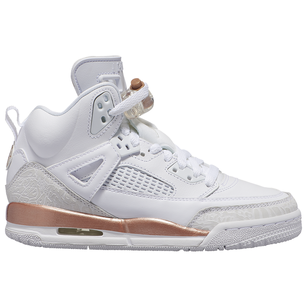 Jordan Spizike - Girls Grade School / White/Summit White/Metallic Red Bronze