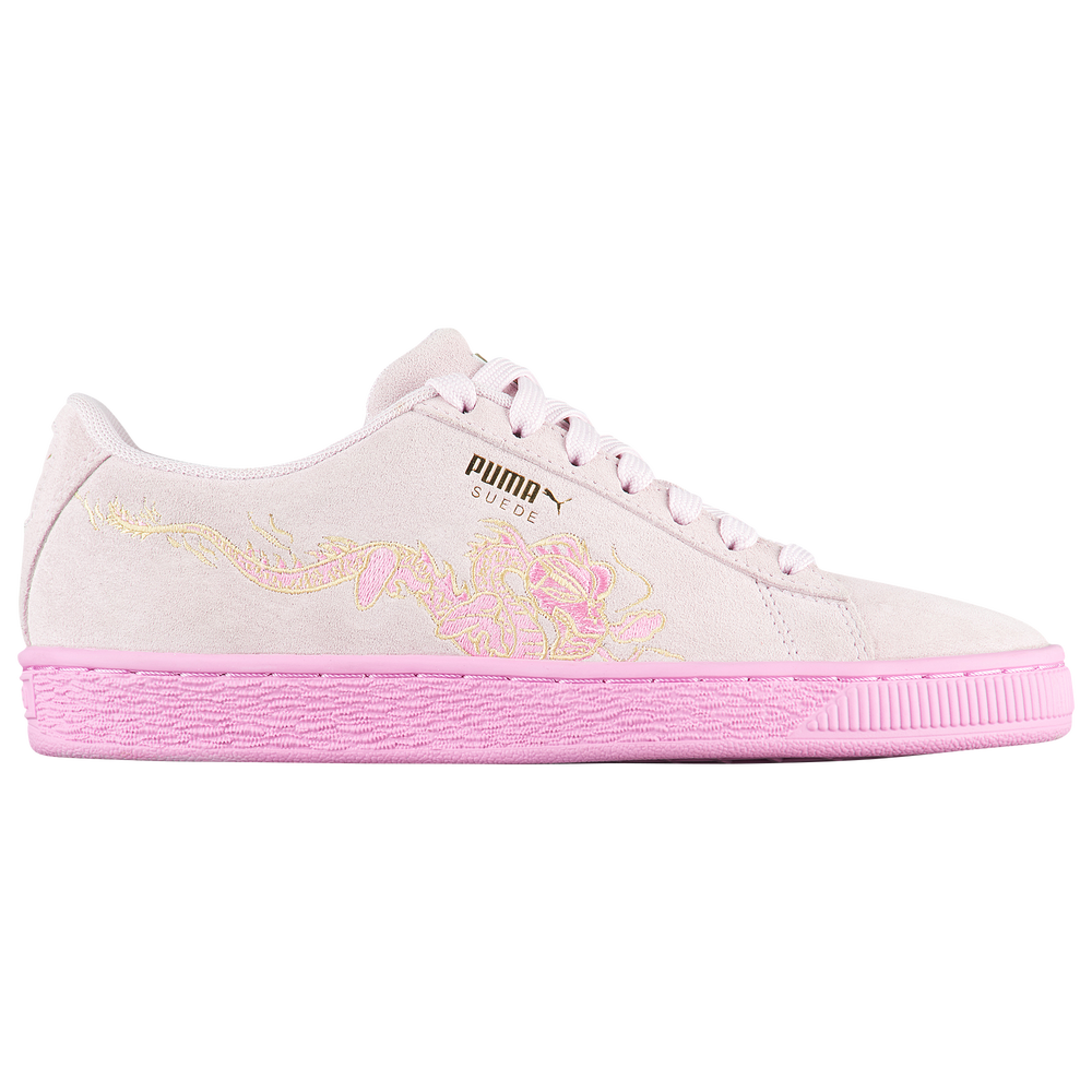 PUMA Suede Classic - Girls Grade School / Orchid | Dragon Embroidery