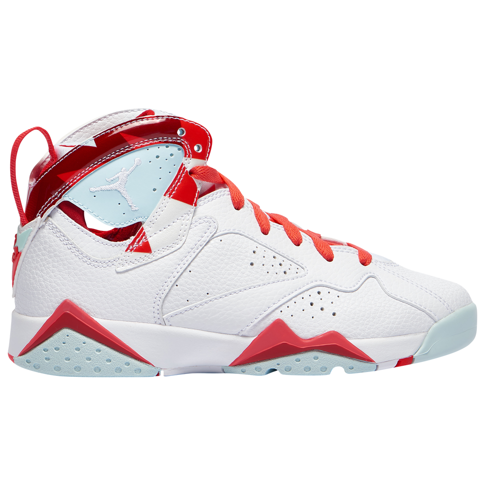 Jordan Retro 7 - Girls Grade School / White/White/Topaz Mist