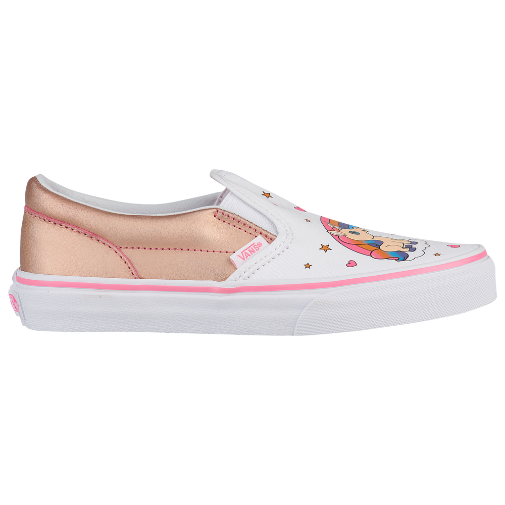 Vans Classic Slip On - Girls Grade School / Pink Lemonade/True White | Unicorn Rainbow