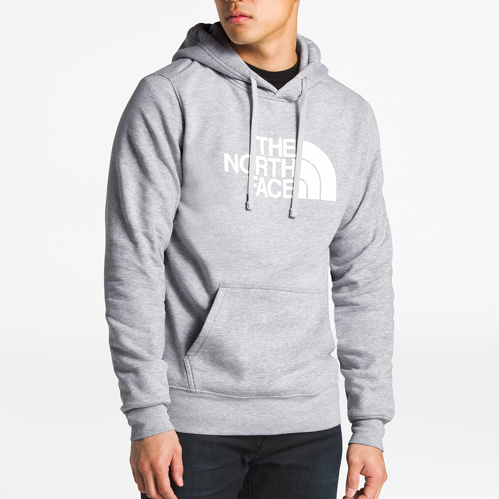 The North Face Half Dome Pullover Hoodie - Mens / Tnf Light Grey Heather/Tnf White