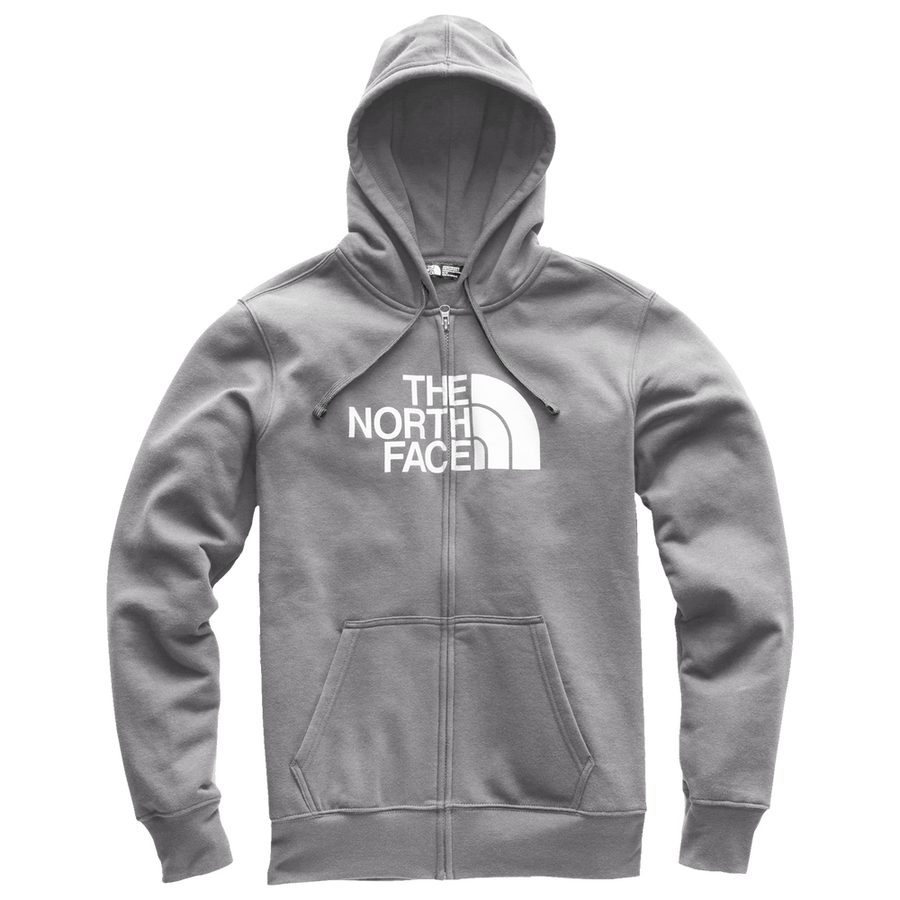 The North Face Half Dome Full-Zip Hoodie - Mens / Tnf Medium Grey Heather/Tnf White | Past Season