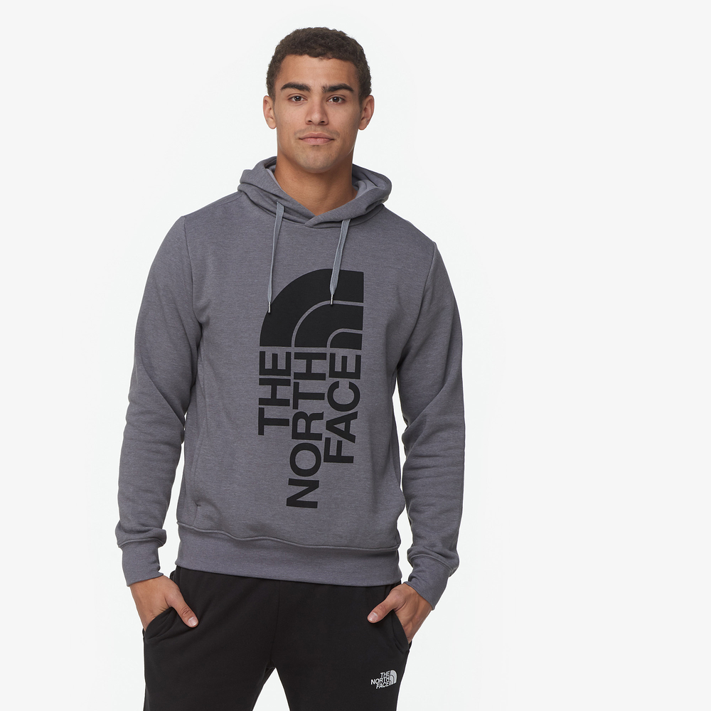 The North Face Trivert Pullover Hoodie - Mens / Tnf Medium Grey Heather/Tnf Black | Past Season