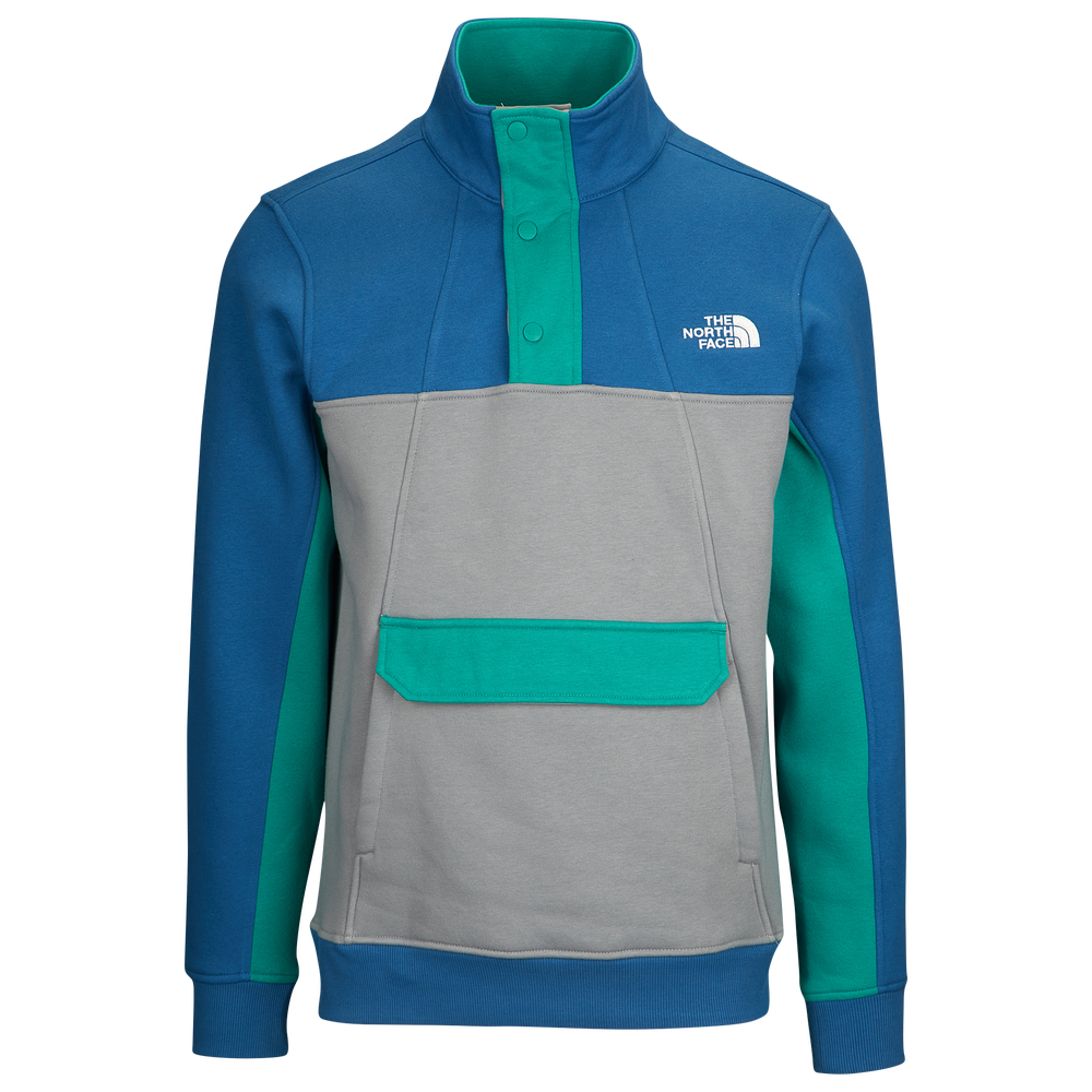 The North Face Alphabet City Fleece Pullover - Mens / Dish Blue/Mid Grey/Porcelain Green | Past Season