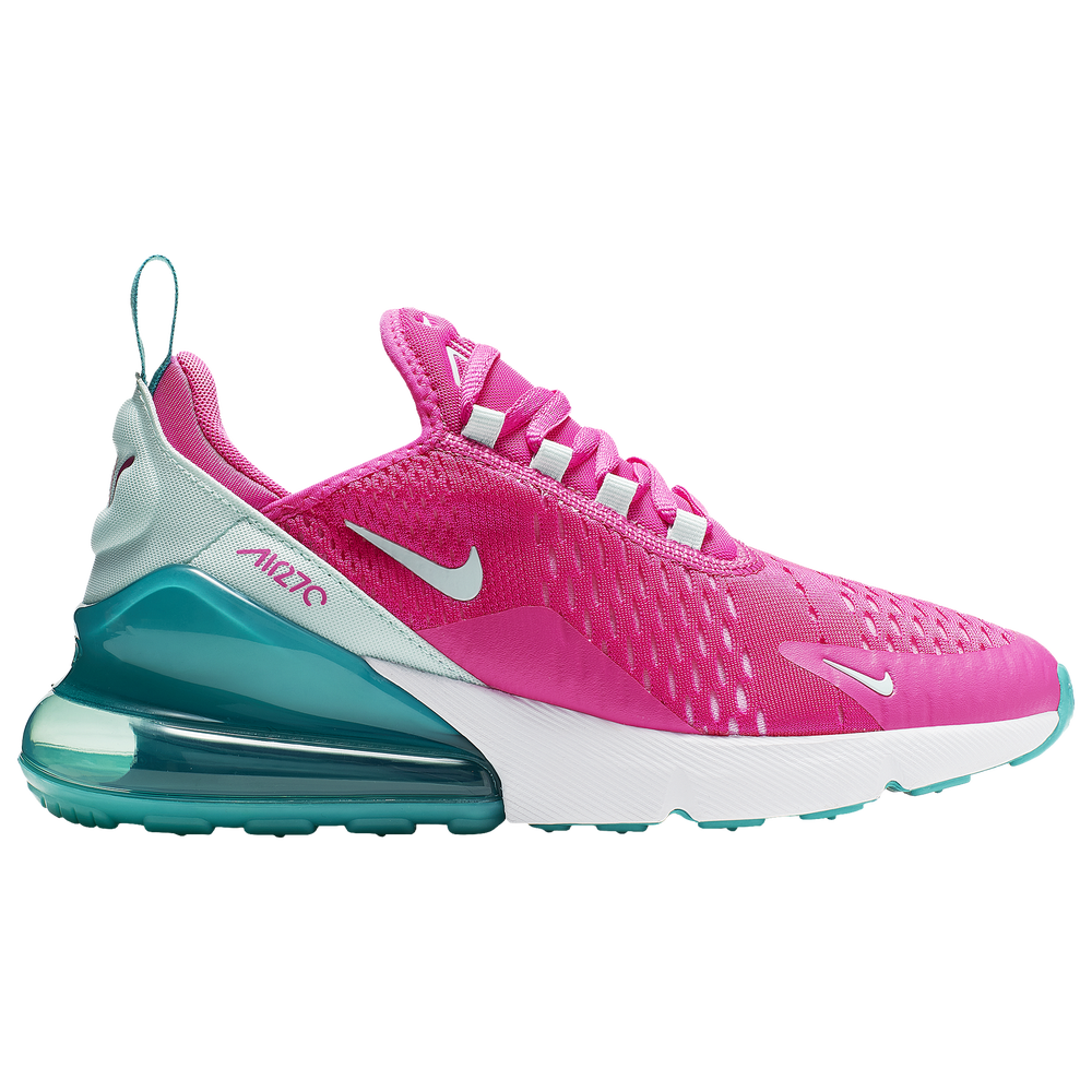 Nike Air Max 270 - Girls Grade School / Cabana/Teal Tint/White/Laser Fuchsia | Aqua Girl