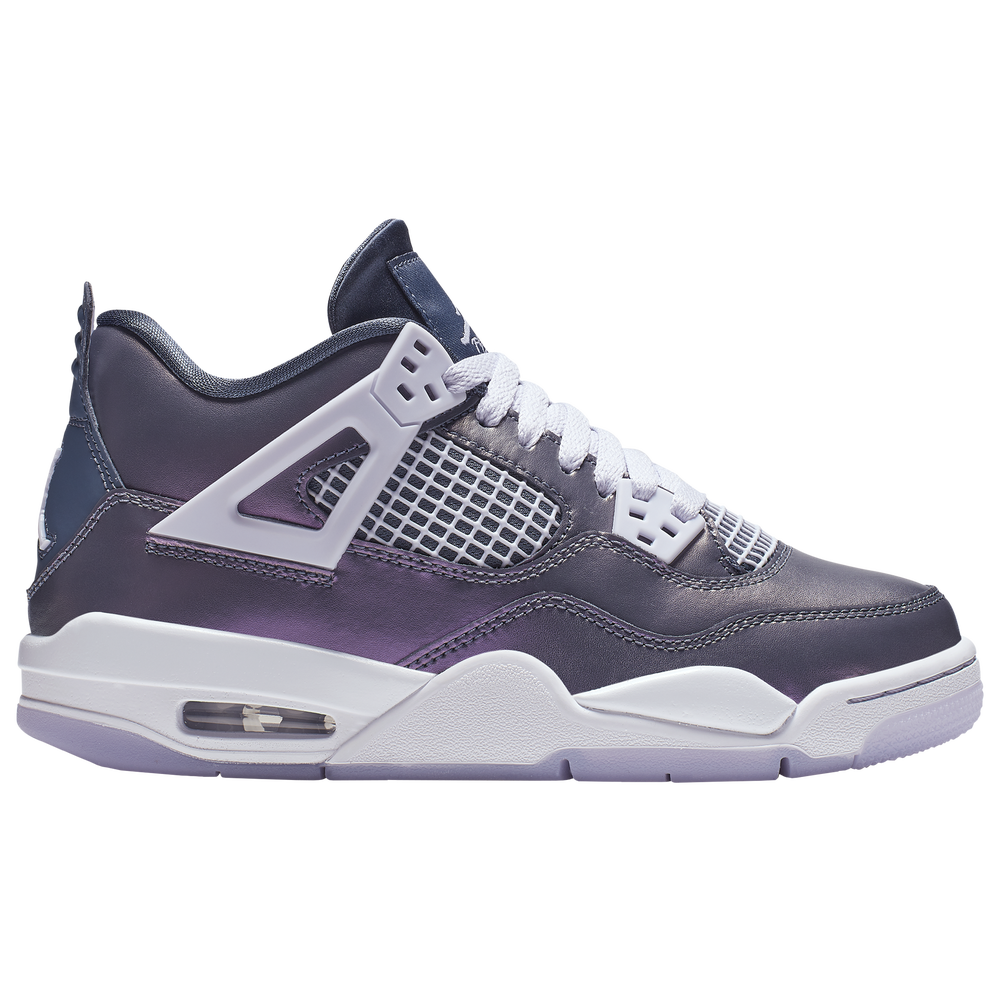 Jordan Retro 4 SE - Girls Grade School / Monsoon Blue/Armory Blue/Melon Tint