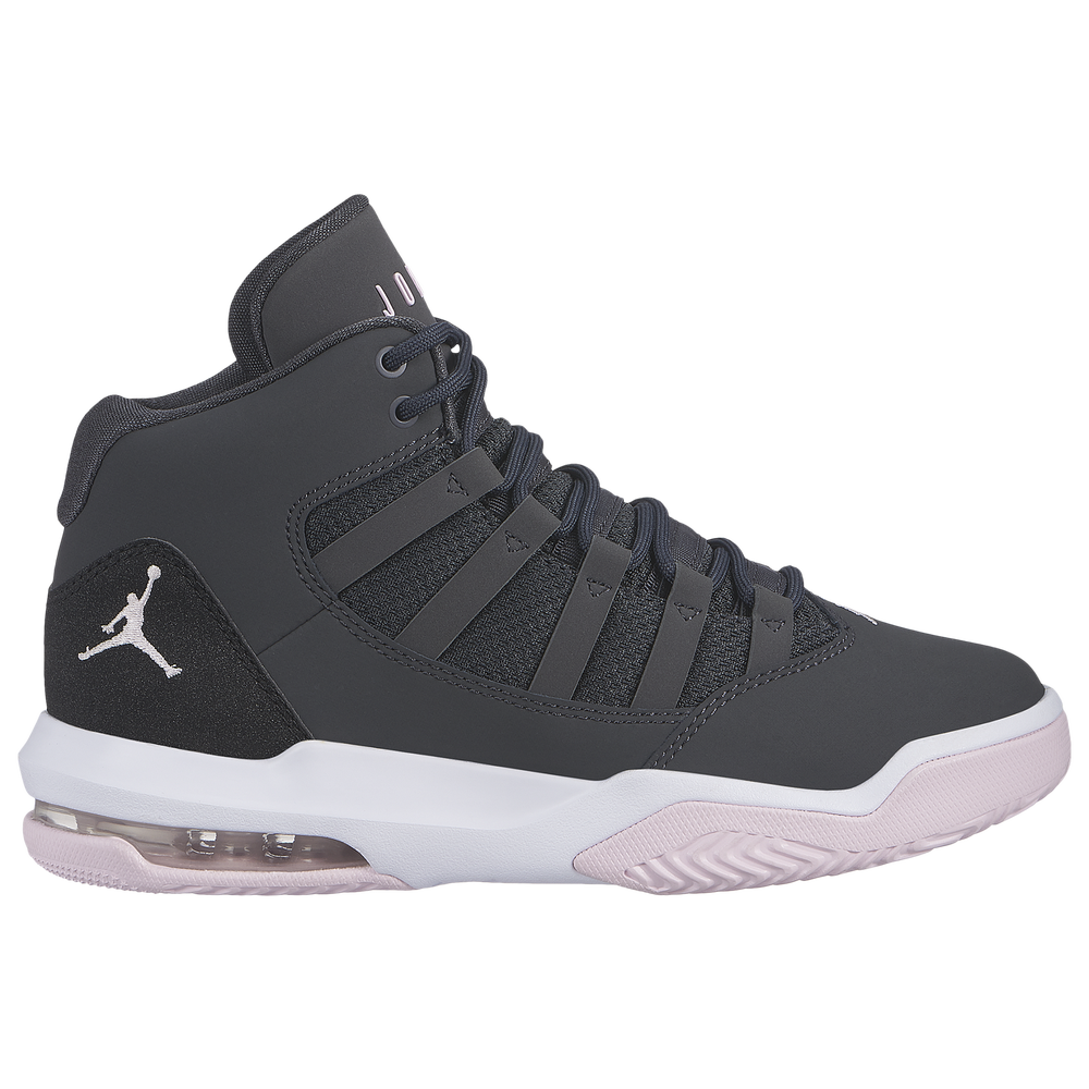Jordan Max Aura - Girls Grade School / Anthracite/Pink Foam/Black/White