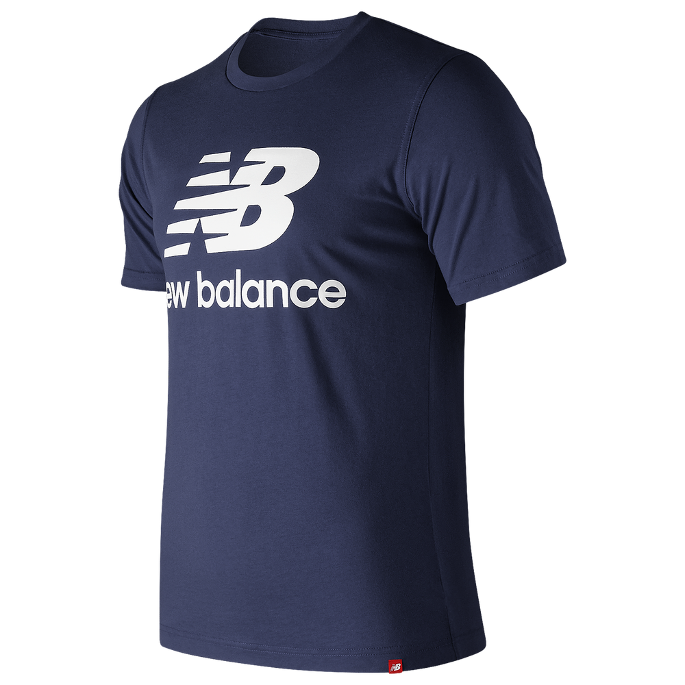 New Balance Essentials Stacked Logo T-Shirt - Mens / Pigment