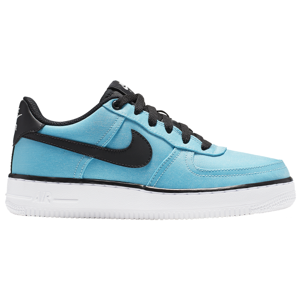 Nike Air Force 1 Low 06 - Girls Grade School / Blue Gaze/Black/Platinuim Tint/Active Fuchsia | LV8 Shift