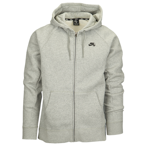 Nike SB Icon Full Zip Hoodie - Men's - Grey / Grey