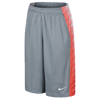 Nike Elite Wing Shorts - Boys' Grade School - Grey / Orange
