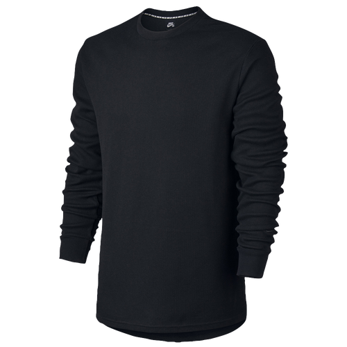 Nike SB Dry Thermal Crew - Men's - All Black / Black
