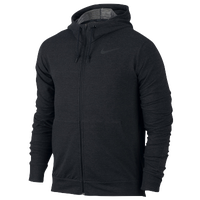 Nike DF Training Fleece Full-Zip Hoodie - Men's - All Black / Black
