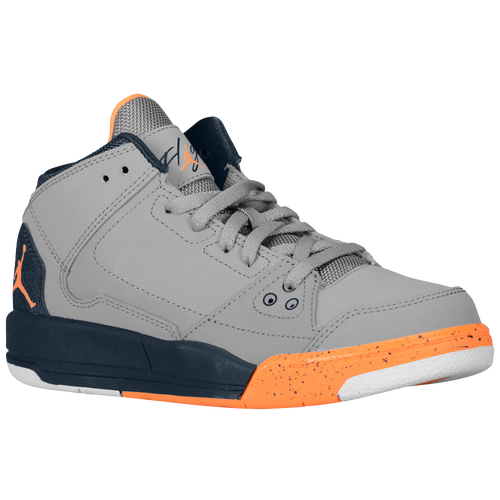 best website a940b 457f5 Jordan Flight Origin Boys Preschool Basketball Shoes Cement Grey Armory  Navy White Bright Citrus