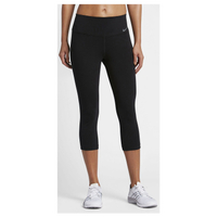Nike Dri-FIT Cotton Capris - Women's - All Black / Black