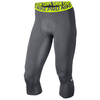 Nike Pro Cool Compression 34 Tights Men's Grey Light Green