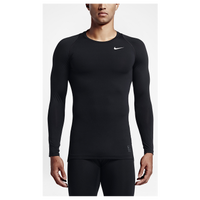 Nike Pro Hypercool Compression L/S Top - Men's - All Black / Black