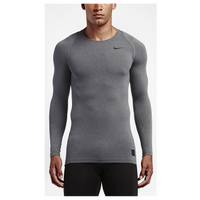 Nike Pro Hypercool Compression L/S Top - Men's - Grey / Grey