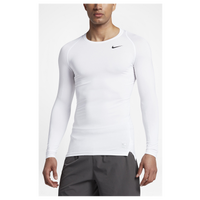 Nike Pro Hypercool Compression L/S Top - Men's - All White / White