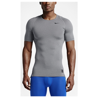 Nike Pro Hypercool Compression S/S Top - Men's - Grey / Grey
