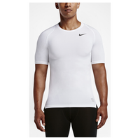 Nike Pro Cool Compression S/S Top - Men's - All White / White