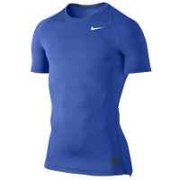 Nike Pro Cool Compression S/S Top - Men's - Blue / Blue