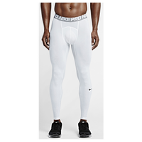 Nike Pro Cool Compression Tights - Men's - White / Grey