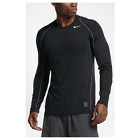 Nike Pro Hypercool Fitted L/S Top - Men's - Black / Grey