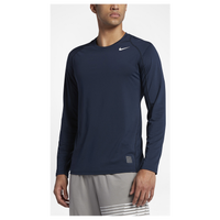 Nike Pro Cool Fitted L/S Top - Men's - Navy / Navy