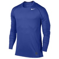Nike Pro Cool Fitted L/S Top - Men's - Blue / Blue