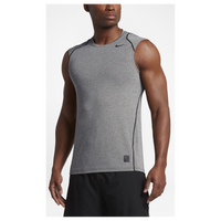 Nike Pro Hypercool Fitted Sleeveless Top - Men's - Grey / Black