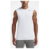 Nike Pro Hypercool Fitted Sleeveless Top - Men's - White / Grey