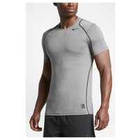 Nike Pro Cool Fitted S/S Top - Men's - Grey / Grey