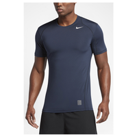 Nike Pro Hypercool Fitted S/S Top - Men's - Navy / Grey