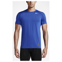 Nike Pro Cool Fitted S/S Top - Men's - Blue / Blue