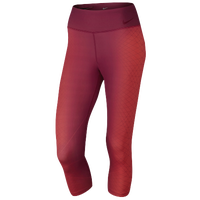 Nike Power Legendary Engineered Lacer Capris - Women's - Red / Maroon
