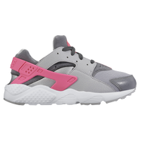 Nike Huarache Run - Girls' Preschool - Grey / White
