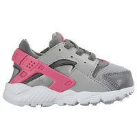 Nike Huarache Run - Girls' Toddler - Grey / White