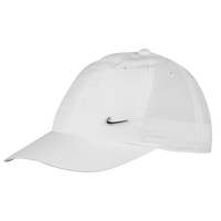 Nike Metal Swoosh Cap - Youth - White / Silver