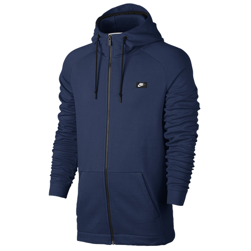 Nike Modern Full Zip Hoodie - Men's - Casual - Clothing - Costal Blue