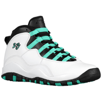 Jordan Retro 10 - Girls' Grade School - White / Black