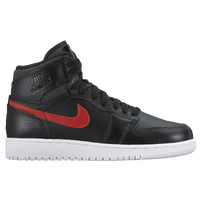 Jordan AJ 1 High - Boys' Grade School - Black / Red