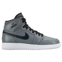 Jordan AJ 1 High - Boys' Grade School - Grey / White
