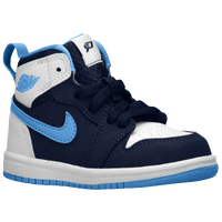 Jordan AJ 1 High - Boys' Toddler - Navy / Light Blue