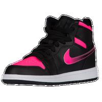 14467b7fb Jordan AJ 1 High - Girls  Preschool - Black   Pink